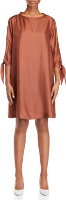 Alysi Brown Silk Tent Dress