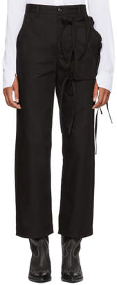 MM6 MAISON MARGIELA Black Cargo Tie Pants