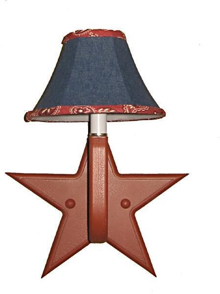 Red Star Denim Sconce