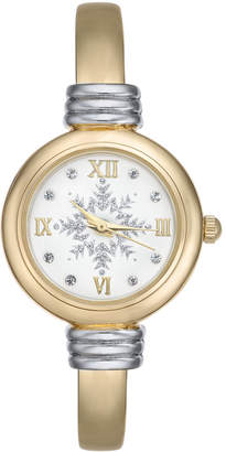 Charter Club Holiday Lane Women's Two-Tone Cuff Bracelet Watch 25mm