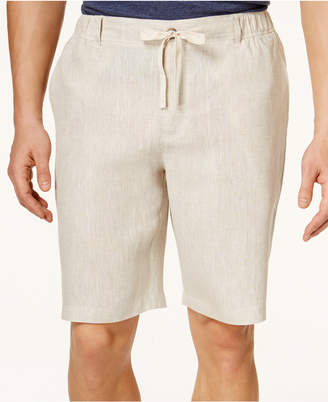 Tasso Elba Men's Linen Drawstring Shorts, Only at Macy's $55 thestylecure.com