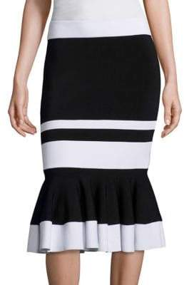 Jonathan Simkhai Striped Trumpet Skirt
