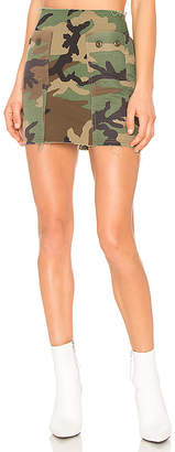 KENDALL + KYLIE Repurposed Camo Skirt