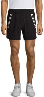 Black Barrett Heat Seal Zip Active Shorts