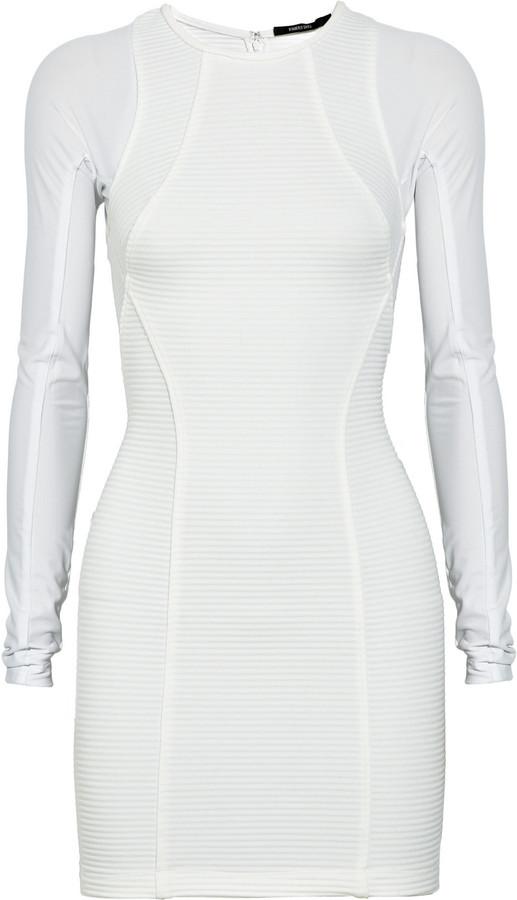 Kimberly Ovitz Paavo ribbed-knit and jersey dress