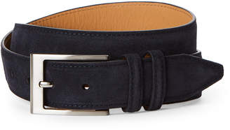 Robert Talbott Navy Suede Belt