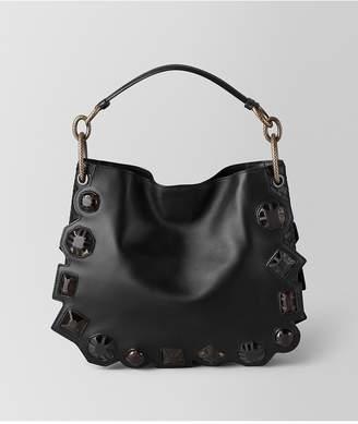 Bottega Veneta Nero French Calf/Nappa Gems Loop Bag