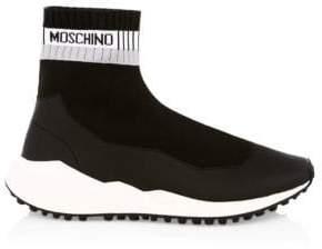 Moschino Men's Neoprene Stamp Sock Sneakers - Black - Size 44 (11)