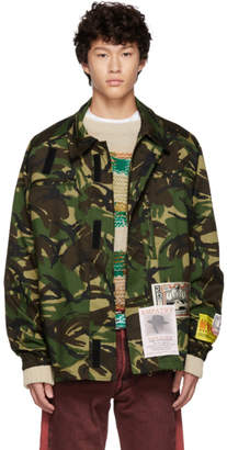 Martine Rose Green Camo Jacket