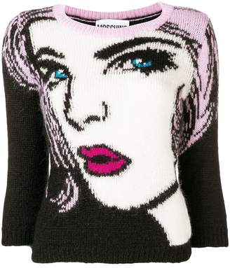 Moschino 'eyes' knitted pullover