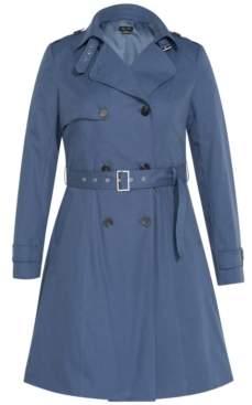 City Chic Trendy Plus Size Classic Trench Coat