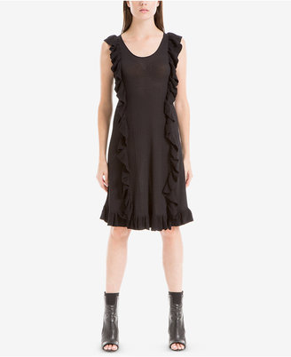 Max Studio London Ruffled Sweater Dress $128 thestylecure.com