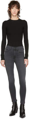 Rag & Bone Grey High-Rise Ankle Skinny Jeans