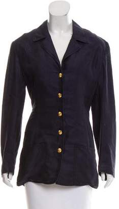Chanel Notch-Lapel Button-Up Jacket