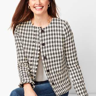 Talbots Gingham Tweed Jacket