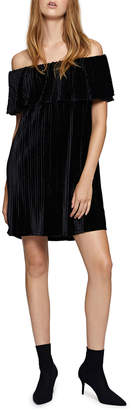 Sanctuary Zodiac Velvet Off-The-Shoulder Dress