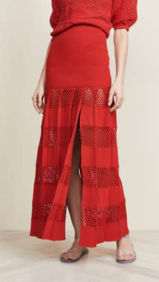 Sonia Rykiel Textured Stripe Skirt