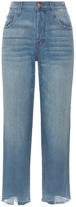 J Brand - Ivy High-rise Straight-leg Jeans - Mid denim $230 thestylecure.com