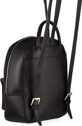 Mario Valentino Valentino By Bastien Tassel-Zip Leather Backpack Bag