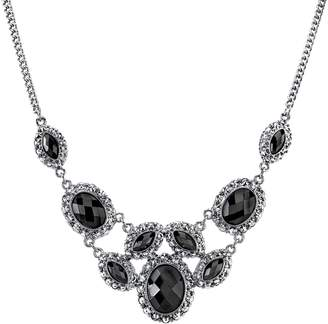 1928 Faceted Stone Bib Necklace