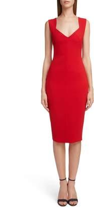 Victoria Beckham Sweetheart Neck Body-Con Dress
