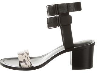 Pour La Victoire Leather Ankle Strap Sandals $95 thestylecure.com