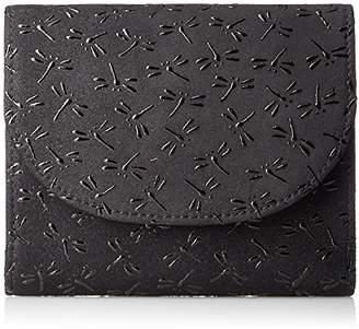 Aries [アリエス] 日本製印伝二つ折り財布 ボックスコインケース付 1212-92 BK/BK 黒×黒とんぼ