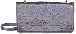 Tory Burch Tory Burch Embossed Leather Wallet On Chain
