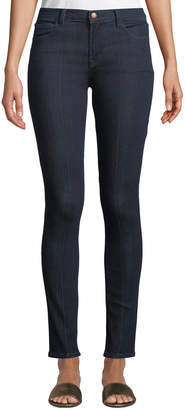 J Brand Jeans Mid-Rise Pintucked Skinny Jeans