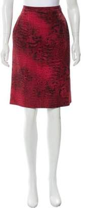 Giambattista Valli Wool Knee-Length Dress Red Wool Knee-Length Dress