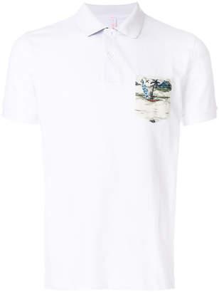 Sun 68 Hawaii pocket polo shirt