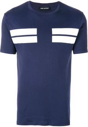 Clearance Genuine bar stripe T-shirt - Blue Neil Barrett Clearance Low Price Low Price For Sale Discount Pick A Best qmv5gHN