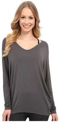 Hard Tail Slouchy V-Neck Tee $76 thestylecure.com
