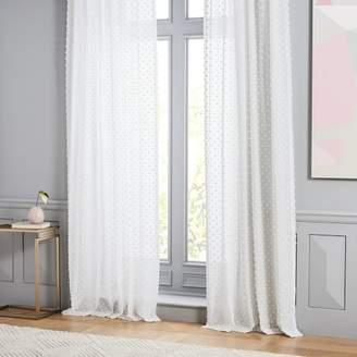 west elm Candlewick Dot Curtain