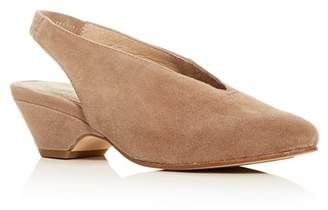 Eileen Fisher Women's Gatwick Suede Slingback Wedge Pumps