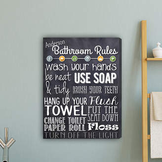 Laundry by Shelli Segal JDS Personalized Gifts Bathroom Rules Textual Art on Canvas