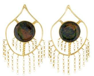 Kara Ross 18K Treated Black Opal Drop Earrings