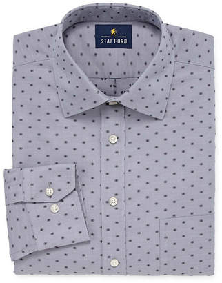 STAFFORD Stafford Executive Non-Iron Cotton Pinpoint Oxford Long Sleeve Pattern Dress Shirt