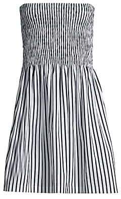 ATM Anthony Thomas Melillo Women's Smocked Strapless Flare Dress