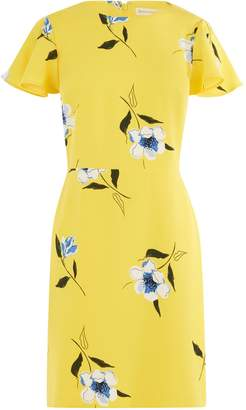 Warehouse Buttercup Printed Dress