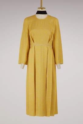 Fendi Long-sleeved midi dress
