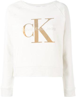 Calvin Klein Jeans metallic logo print sweatshirt $102.52 thestylecure.com