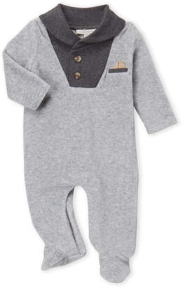 Baby Essentials Miniclasix (Newborns) Grey Velour Footie
