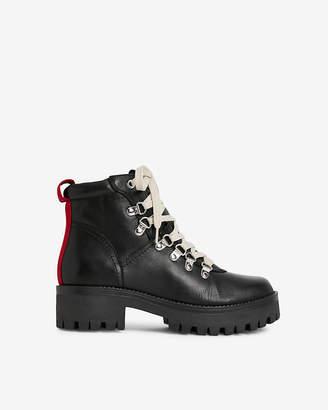 Express Steve Madden Bam Black Leather Boots