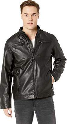 Buffalo David Bitton by David Bitton Men's Perforated Faux Leather Jacket