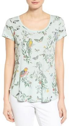 Women's Lucky Brand 'Crazy Parrot' Print Scoop Neck Tee $39.50 thestylecure.com
