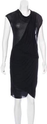Helmut Lang Draped Knit Dress