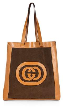 Gucci Suede Large Logo Tote