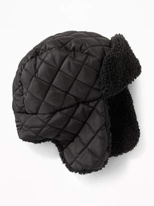 Old Navy Quilted Sherpa-Lined Trapper Hat for Boys