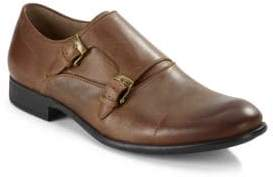John Varvatos Star S Leather Monk Strap Shoes